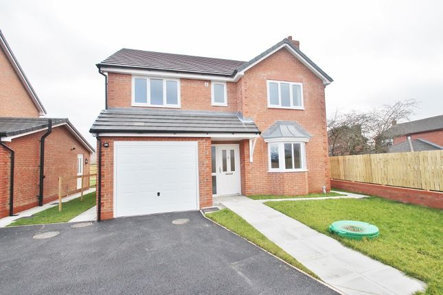 Thumbnail Detached house for sale in Poplars Close, Alltami Road, Mold