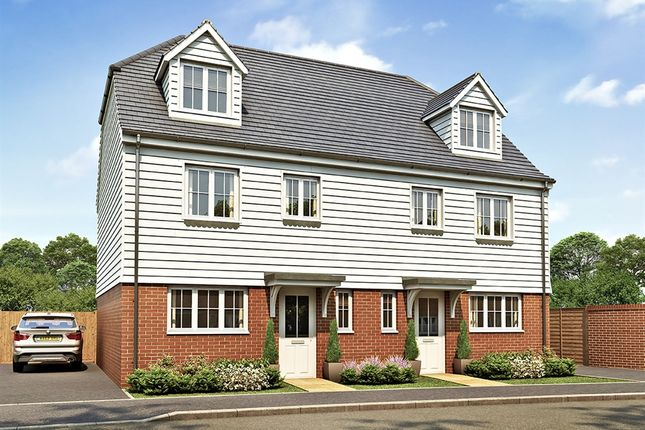 "Thumbnail Semi-detached house for sale in ""The Leicester"" at Market View, Dorman Avenue South, Aylesham, Canterbury"