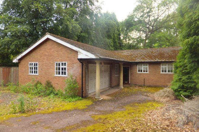 Thumbnail Detached bungalow for sale in Talbot Avenue, Little Aston, Sutton Coldfield