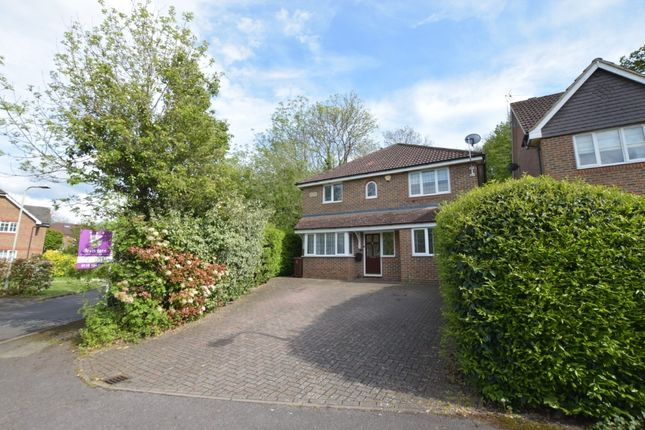 Thumbnail Detached house for sale in Woodcock Court, Three Mile Cross, Reading