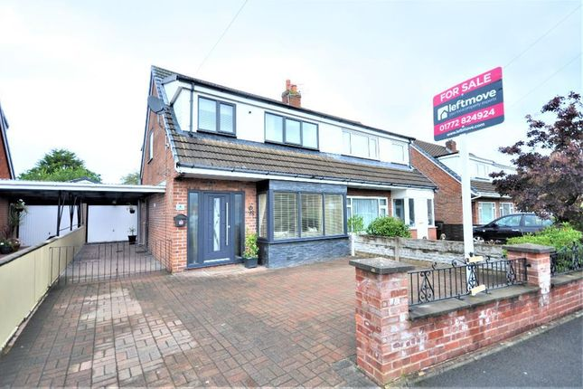 Thumbnail Semi-detached house for sale in Linden Close, Lostock Hall, Preston, Lancashire
