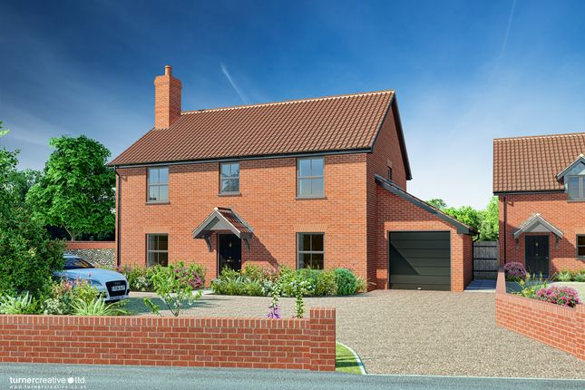 Thumbnail Detached house for sale in Castle Hill Road, New Buckenham