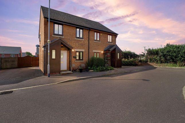 Thumbnail Semi-detached house for sale in Beckworth Grove, Empingham, Oakham