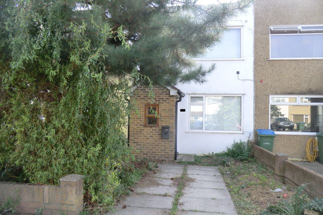 Thumbnail End terrace house to rent in Eastcote Avenue, West Molesey