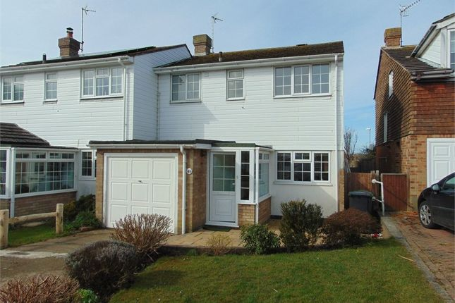 Thumbnail Semi-detached house to rent in Quebec Close, Bexhill-On-Sea