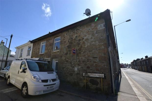 Thumbnail End terrace house for sale in Carnarthen Road, Camborne, Cornwall