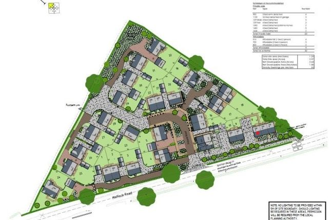 Thumbnail Town house for sale in Plot 8, Matlock Road, Wessington, Alfreton