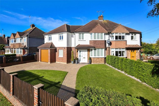 Thumbnail Semi-detached house for sale in Canada Road, Cobham, Surrey