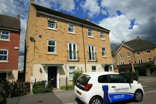 Thumbnail Town house to rent in Alderman Close, Beeston, Nottingham
