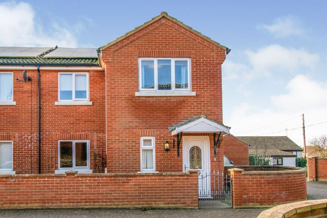 Thumbnail Semi-detached house for sale in James Gray Close, Winterton-On-Sea, Great Yarmouth