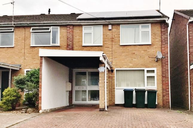 Thumbnail End terrace house to rent in Warmington Close, Binley, Coventry