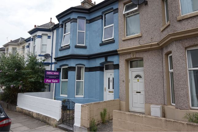 Thumbnail Town house for sale in Grenville Road, Plymouth
