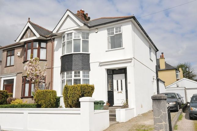 Thumbnail Semi-detached house for sale in Beacon Down Avenue, Plymouth