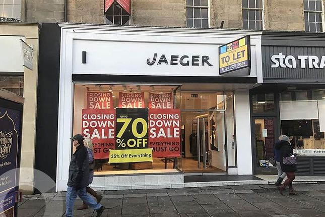 Thumbnail Retail premises to let in George Street, New Town, Edinburgh