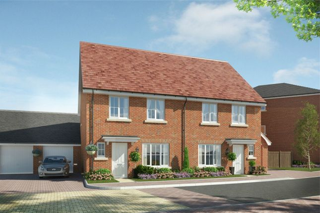 Thumbnail Semi-detached house for sale in The Dersingham, The Ferns, Wixams, Bedford