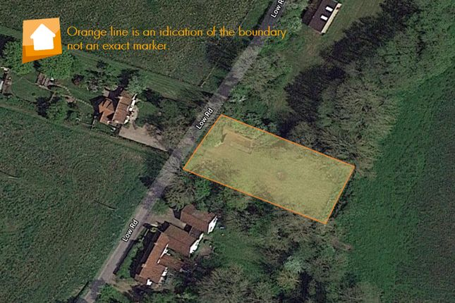 Thumbnail Land for sale in Low Road, Forncett St. Mary, Norwich
