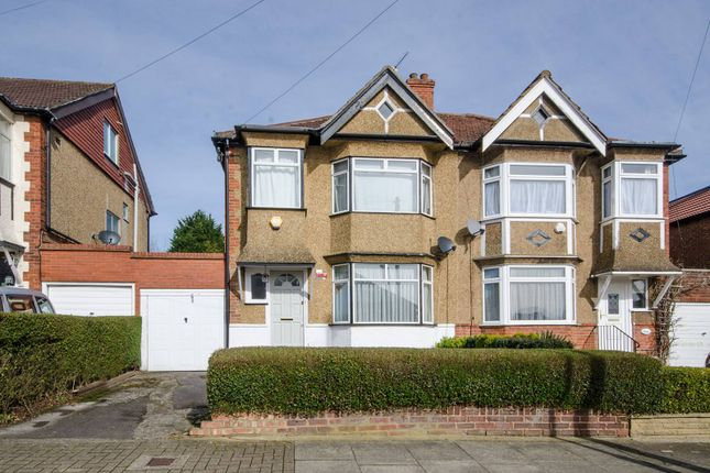 Thumbnail Semi-detached house for sale in Lyndhurst Avenue, Pinner