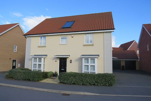 Thumbnail Detached house for sale in Towpath Avenue, Pineham Lock, Hunsbury Meadows