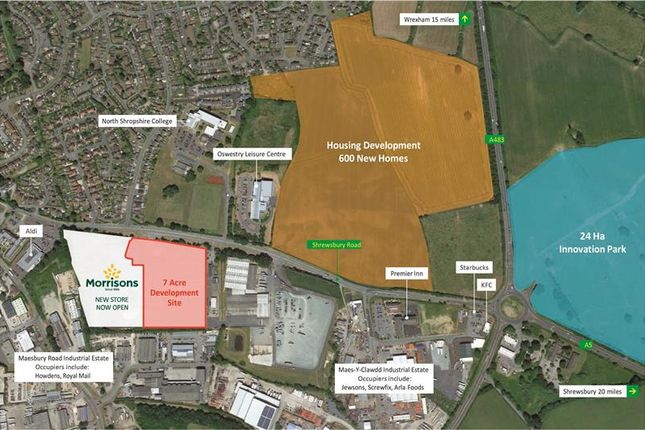 Thumbnail Commercial property for sale in Commercial Development Site, Smithfield Park, Oswestry, Shropshire