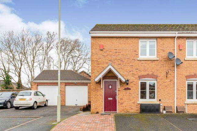 Thumbnail End terrace house for sale in Longacres, Brackla, Bridgend