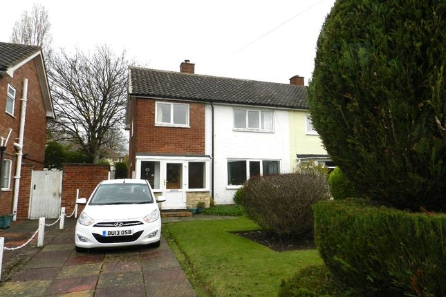 Thumbnail Semi-detached house to rent in Glebe Drive, Boldmere, Sutton Coldfield