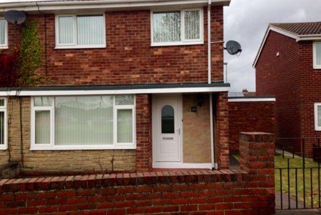 Thumbnail Semi-detached house to rent in Newbiggin Road, Ashington