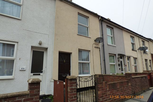 Thumbnail Terraced house to rent in Wollaston Road, Lowestoft