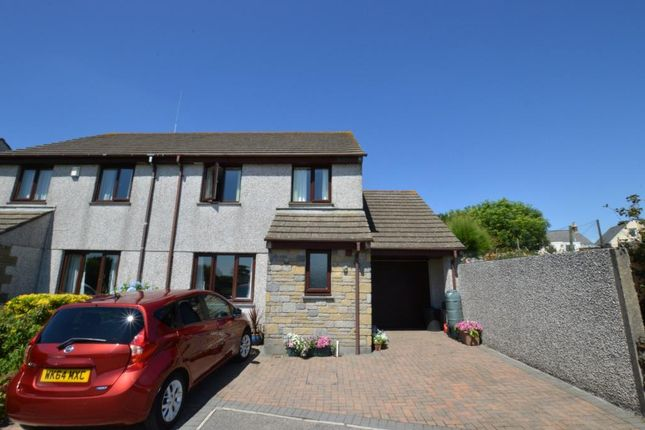 Thumbnail Semi-detached house for sale in Mount Pleasure, Camborne, Cornwall