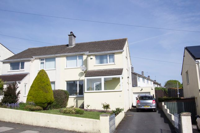 Thumbnail Semi-detached house for sale in Treveneague Gardens, Manadon, Plymouth