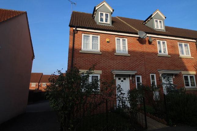 Thumbnail End terrace house to rent in Coppice Close, Chippenham