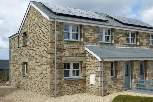 Thumbnail Semi-detached house for sale in Boscaswell Downs, Pendeen, Penzance