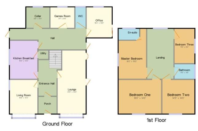 Floorplan of Winwick Lane, Lowton, Warrington, Greater Manchester WA3