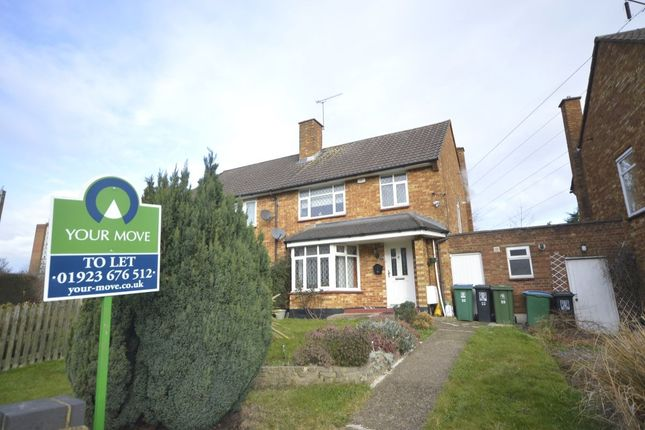 Thumbnail Semi-detached house to rent in Garsmouth Way, Watford