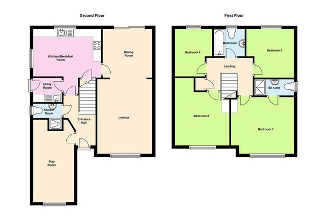 Floor Plan of Glan Rhymni, Pengham Green, Cardiff CF24