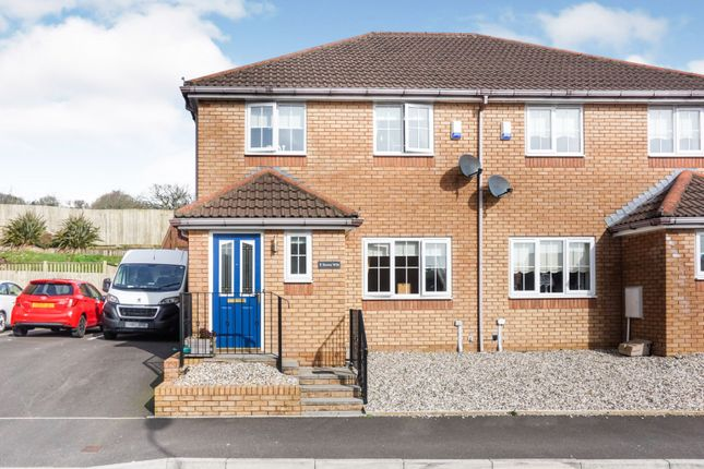 Thumbnail Semi-detached house for sale in Nant-Y-Fron, Porth