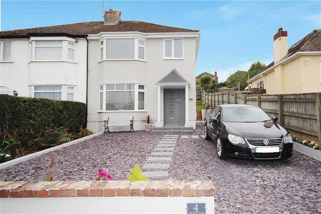 Thumbnail Semi-detached house for sale in Durleigh Road, Central Area, Brixham