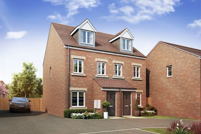 "Thumbnail Town house for sale in ""The Foxton"" at Theedway, Leighton Buzzard"