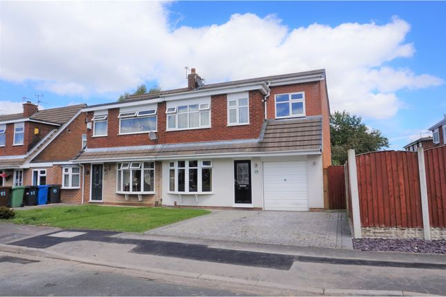 Thumbnail Semi-detached house for sale in Burley Crescent, Winstanley, Wigan