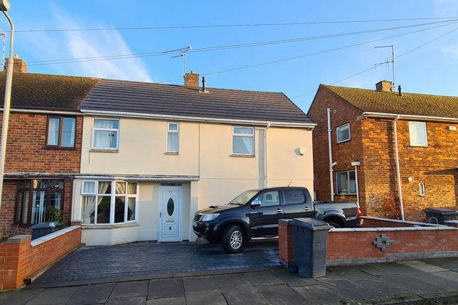 Thumbnail Semi-detached house for sale in Kirminton Gardens, Thurnby Lodge