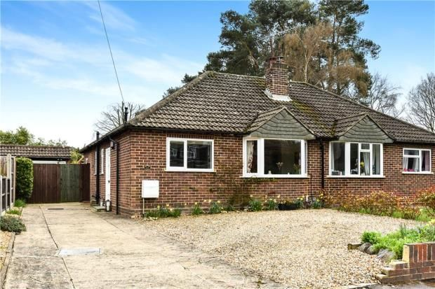 Thumbnail Semi-detached bungalow for sale in Spring Woods, Fleet, Hampshire