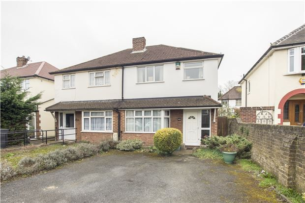 Thumbnail Semi-detached house for sale in Whytecliffe Road North, Purley
