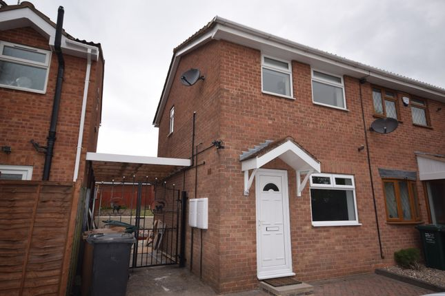 Thumbnail Semi-detached house to rent in Rosecroft Gardens, Swadlincote