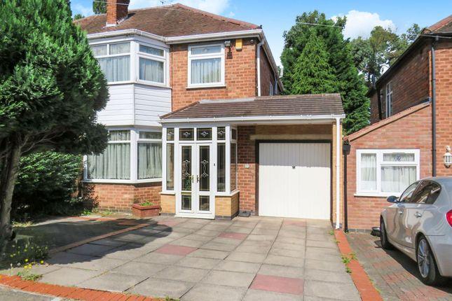 Thumbnail Semi-detached house for sale in Denewood Avenue, Handsworth Wood, Birmingham