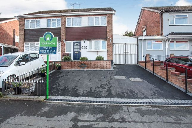 Thumbnail Semi-detached house to rent in Tower View Crescent, Nuneaton