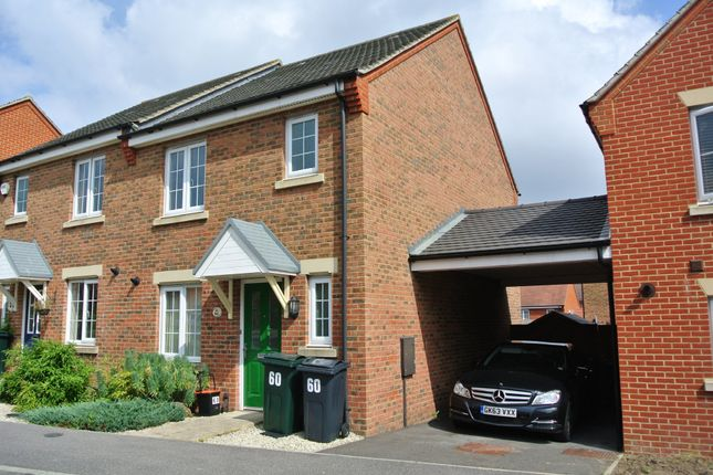 Thumbnail Semi-detached house to rent in Swaffer Way, Singleton Hill, Ashford