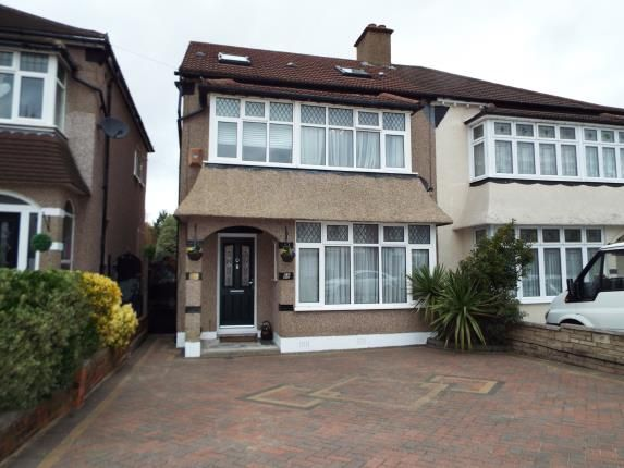 Thumbnail Semi-detached house for sale in Aragon Drive, Ilford