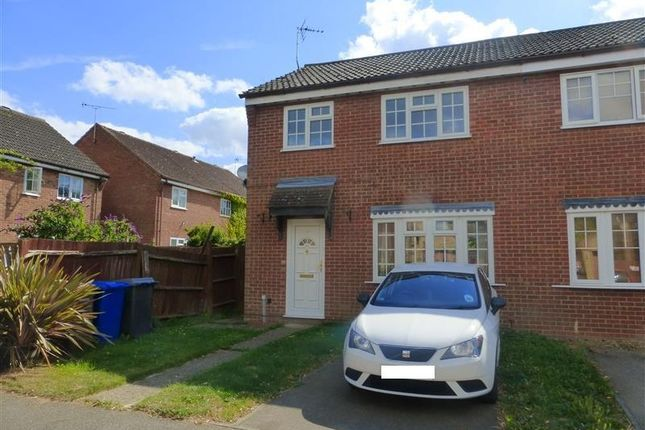 Thumbnail End terrace house to rent in Macpherson Robertson Way, Mildenhall, Bury St. Edmunds