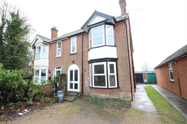 Thumbnail Semi-detached house for sale in Woodside, Felixstowe Road, Nacton, Ipswich