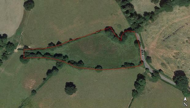 Aerial Shot of Burton, Rossett, Wrexham LL12