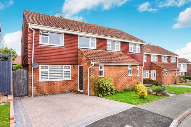 Thumbnail Semi-detached house for sale in Parsonage Road, Henfield